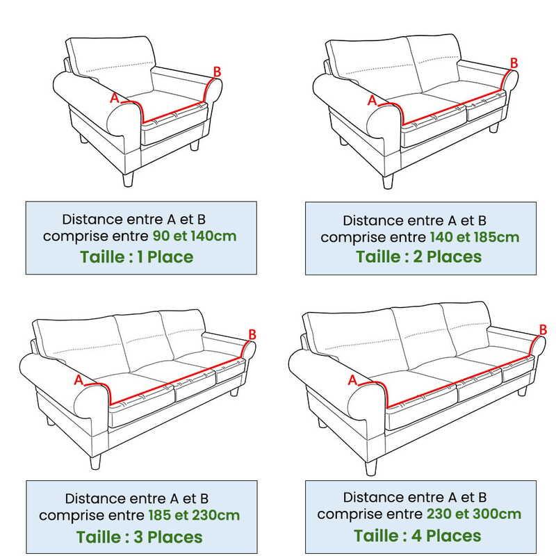 Guide des tailles - La Maison des Housses